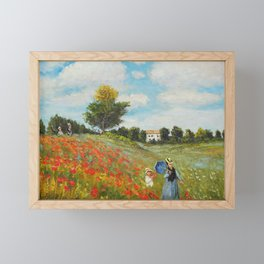 POPPIES - CLAUDE MONET Framed Mini Art Print