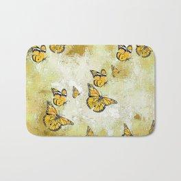 Adorable Butterflies, yellow Bath Mat