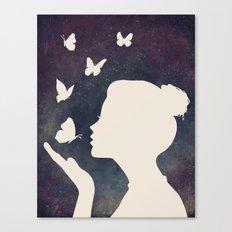 Bisou Papillon Revisited Canvas Print