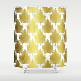 Golden Maple Leaves Shower Curtain