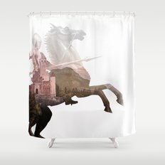 Defend the Castle Shower Curtain