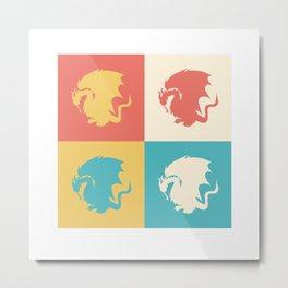 Multicolor Pendragon, Merlin Metal Print