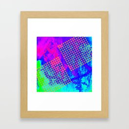 Polka dots on vibrant abstract background Framed Art Print