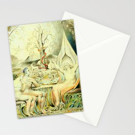 """William Blake """"Illustrations to Milton's Paradise Lost - Raphael Warns Adam and Eve"""" Stationery Cards"""