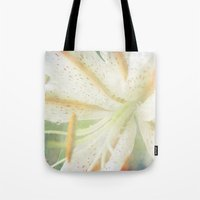 lily Tote Bags featuring Lily by Deepti Munshaw