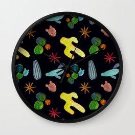 Disco cacti Wall Clock