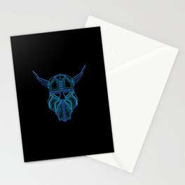 Circuit Board Viking  Stationery Cards