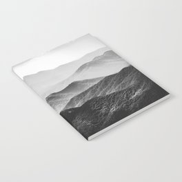 Glimpse - Black and White Mountains Landscape Nature Photography Notebook