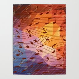 Music notes III Poster