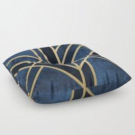 Art Deco Midnight Floor Pillow