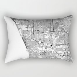Los Angeles White Map Rectangular Pillow