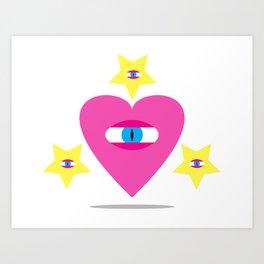 Eye Heart You. Art Print
