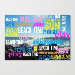 Summer Beach Time Fun Canvas Print