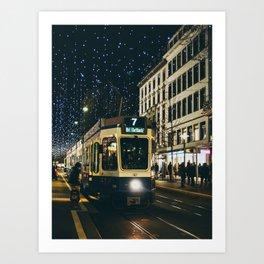 Zurich Tram Art Print