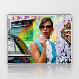 Woman and graffitti Laptop & iPad Skin