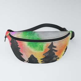 Northern Lights In The Sky - Green and Red Palette Fanny Pack