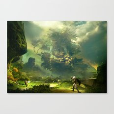 Abstract War Canvas Print