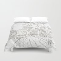 la Duvet Covers featuring LA by samellisdesign