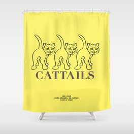 Howlin' Mad Murdock's 'Cat Tails' shirt Shower Curtain