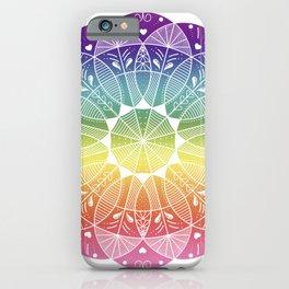 Pride Rainbow Gradient Mandala iPhone Case