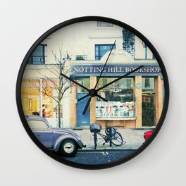 Notting Hill travel movie art Wall Clock