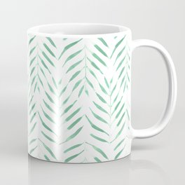 Palm trees in acqua and white Kaffeebecher