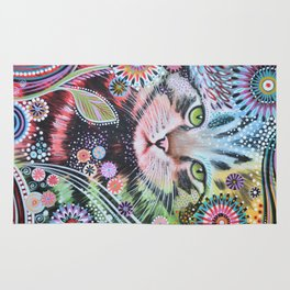 Abstract Cat Art - Penny Rug