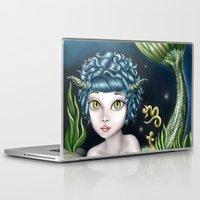 capricorn Laptop & iPad Skins featuring Capricorn by Paula Ellenberger