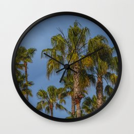 Palm Trees on Laguna Beach in California Wall Clock