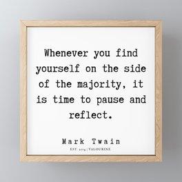 82    | Mark Twain Quotes | 190730 Framed Mini Art Print