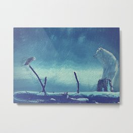wolf canvas Metal Print