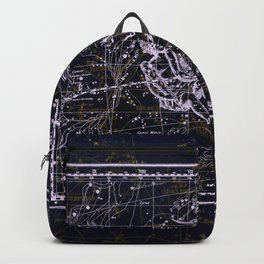 Gemini, Constellation map, Zodiac, Sign sky, Stars, Universe, astrology, astrological, signs, birth Backpack