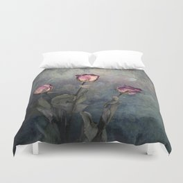 Three Dried Roses III Duvet Cover