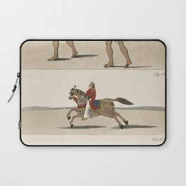 Fruit seller wealthy man on horseback and a rich indigenous man riding a carrier chair from Axel Lin Laptop Sleeve