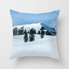 The Slopes Throw Pillow