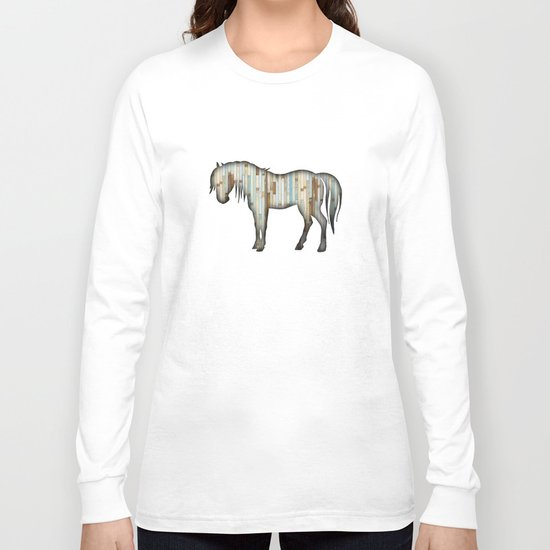 Wooden horse Long Sleeve T-shirt