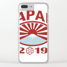 Japan 2019 Rugby Oval Ball Retro Clear iPhone Case