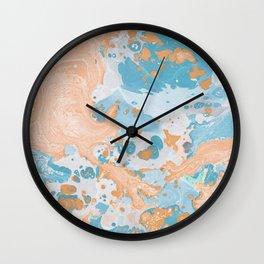 Summer watercolor drops Wall Clock