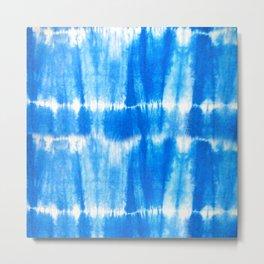 Tie Dye in Blue Metal Print