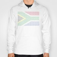 south africa Hoodies featuring digital Flag (South Africa) by seb mcnulty