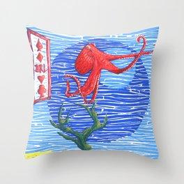 Ocean Poster 1 Throw Pillow