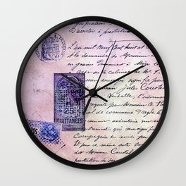aérogramme Wall Clock