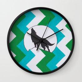 ZigZag Wolf Wall Clock