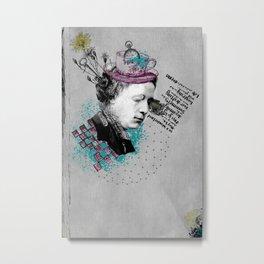 Lewis Carroll Alice on My Mind Metal Print
