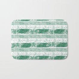 Pastel green watercolor paint brushstrokes confetti stripes Bath Mat