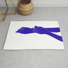 Colour block hands illustration - Effie Rug