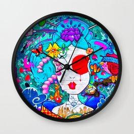 Graffiti Geisha Wall Clock