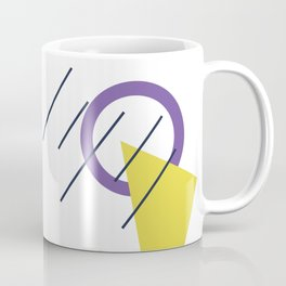 1980s Retro  Totally Gnarly Neon Geometric Abstract Patterns Coffee Mug