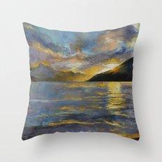 New Zealand Sunset Throw Pillow