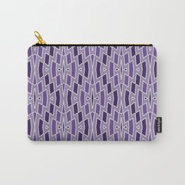 Fragmented Diamond Pattern in Violet Carry-All Pouch